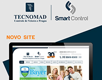 Interface do novo site da TECNOMAD