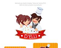Iustración y Branding para Servicio de Catering D'Elli
