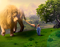The Girl and the Beast - Photomanipulation