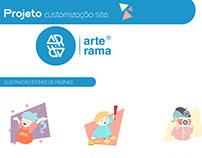 Customização - Site Arterama