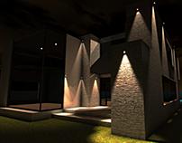 Casa Moderna à Noite