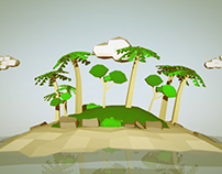 Low Poly Island - Maya and Photoshop