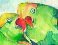 Anilina Birds (loros) traditional Paint