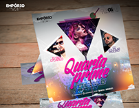 Material Festa Emporio Original #Party #Flyer #Folder