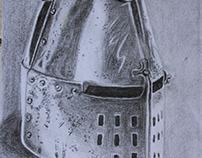Medieval Helmet - Crayon/ Giz de Cera - 18/04/18