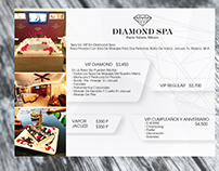 MENÚ DIAMOND SPA