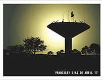 ARTE VETORIZADA: WATER TOWER IN CEIlLÂNDIA CITY-BRAZIL
