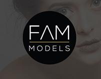 FAM Models I Diseño de Logotipo & Sitio Web