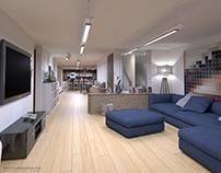 Diseño arquitectónico de vivienda y comercio