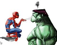 Spiderman & Hulk