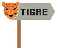 Sinalização para tigre