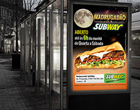 Faixa de Divulgação para rede de fast food SubWay