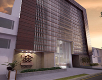 Renders and interior desing for this office building