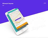 Bikestyle Express app UI
