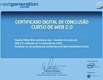 Certificado em Web 2.0