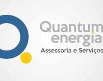 Logo e cartão de visitas Quantum Energia