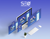Landing page and Social Media for SEO Consulting