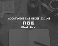 Capa para redes sociais do meu blog: Hobby Diário