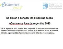 Somos finalistas en los eCommerce Awards Argentina 2015