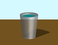 Copo com água - 3D