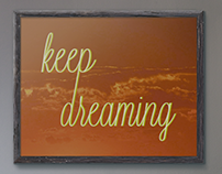Poster - Keep dreaming