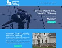 Página web para V&M Cleaning Service