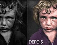 Estudo de aplicação de cor em fotos preto & branco.