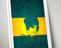 Carlos Tevez Poster Boca Juniors ilustración