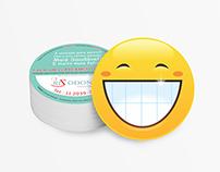 Cartão redondo - Rizodonto - Clareamento Dental
