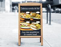 """Cartel A """"Deliciosa comida del día"""" - Sabroso 2017"""