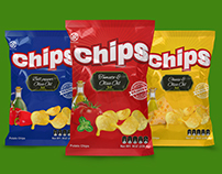 Chips Potato Mockup and Template Packaging
