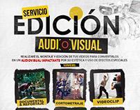 Flyer de servicios de edición audiovisual