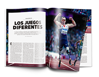 "Nota de revista ""Juegos Diferentes"""