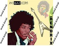 Diseño básico Flat Design (Jimi Hendrix)