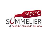 Punto Sommelier - Logotipo para un portal sobre vinos