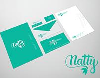 Rebranding natty design de sobrancelhas.