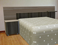 Tablón espaldar para base cama
