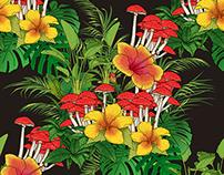 Floral Mushroom Pattern