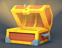 Treasure Chest (3D Low Poly Animation)