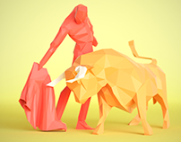 Illustration Low poly