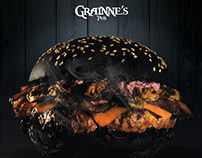 Design / Cartaz All Black's Burger / Grainne's Pub