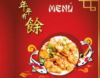 Publicidad impresa menú para restaurante comida china