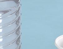 Modelado inorgánico : Botella y vaso de plástico.