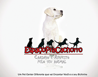 Folder do Pet Center Espaço pra Cachorro