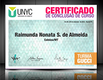 UNYC - Universidade Yes Cosmetics - Identidade visual
