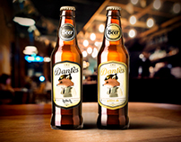 Illustration and beer label design - Dantés Beer -