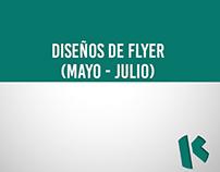 Diseños de Flyer (Mayo - Julio)