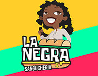 Sanguchería La Negra - Logo