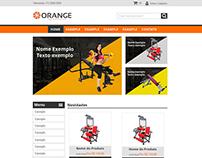 Orange Fitness Layout