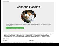 Pagina web tributo a Cristiano R.